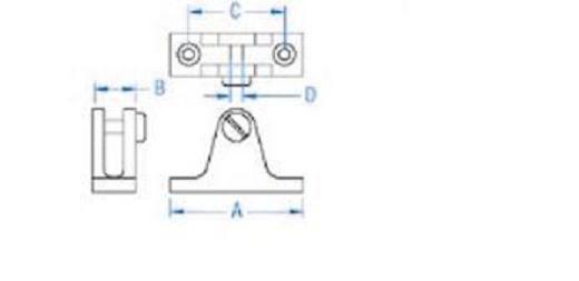 stainless steel bimini top deck hinge