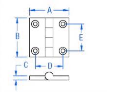 1.5 X 1.5 Boat Hinge CAD